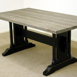 Gjende spisebord 160 x 90 sort antikk gårdsgrå plate_16x9