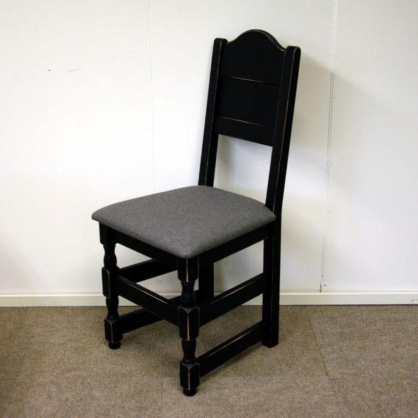 Gjende spisestol sort antikk Olivia 681 grå fra siden_1024x1024
